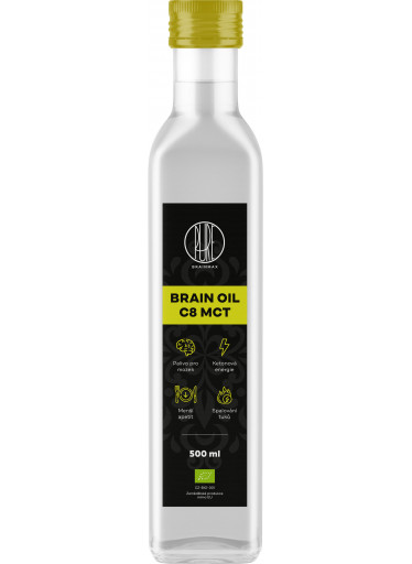 BrainMax Pure Brain MCT Oil C8 BIO, 500 ml