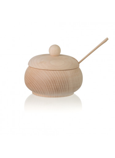 ČistéDřevo Dřevěná cukřenka se lžičkou