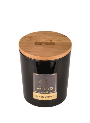 Krab Vonná svíčka Magic Wood - černý samet