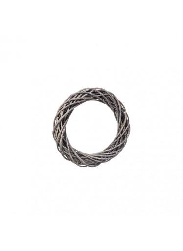 ČistéDřevo Proutěný věnec šedý 26 cm