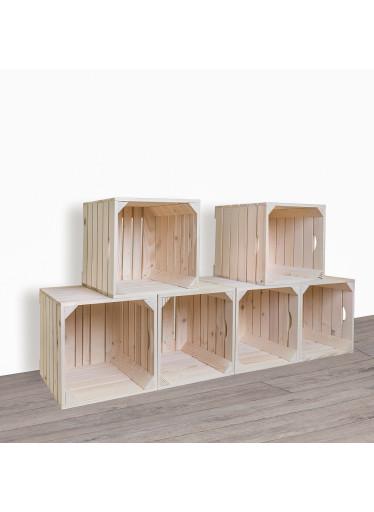 ČistéDřevo Dřevěné bedýnky botník 120x60x35 cm