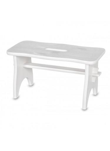 ČistéDřevo Dřevěná stolička- bílá