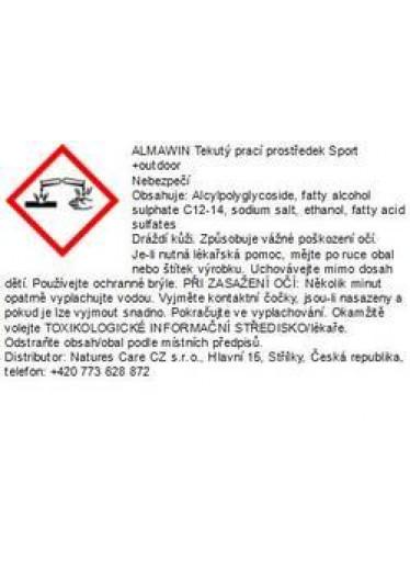 ALMAWIN TEKUTÝ PRACÍ PROSTŘ. SPORT + OUTDOOR 750 ML