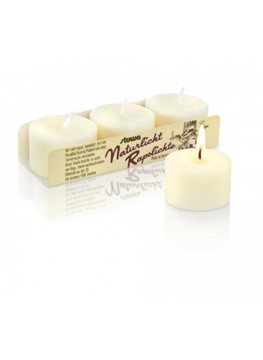 Stuwa Sada malých svíček - bez vůně (3 ks x 30 g) - bez dózy a parfemace
