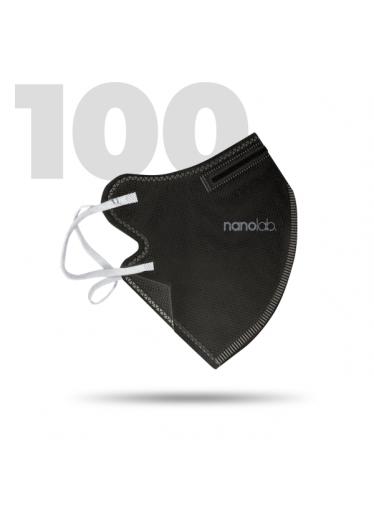 100 x Český bezpečný nano respirátor FFP2 černý
