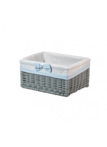 ČistéDřevo Proutěná zásuvka šedá s mašlí