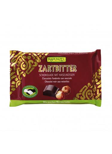 Rapunzel Čokoláda hořká s lískovýmí oříšky BIO 100 g