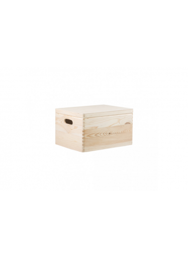 ČistéDřevo Dřevěný box s víkem 40X30X23 CM