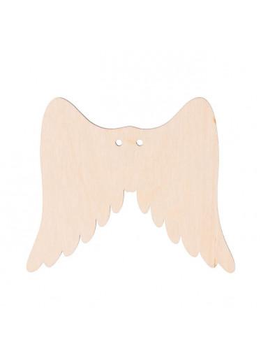 ČistéDřevo Dřevěná andělská křídla I s dírkou 9 x 8 cm