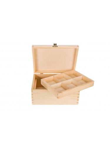 ČistéDřevo Dřevěná krabička s organizérem