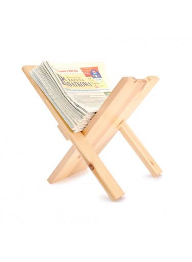 ČistéDřevo Dřevěný stojan na noviny