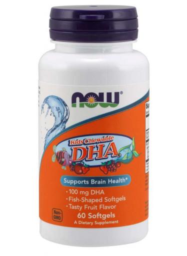 NOW® Foods NOW DHA Kids Chewable (Omega-3), 100 mg, 60 žvýkacích kapslí