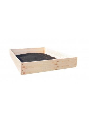 ČistéDřevo Dřevěný vyvýšený záhon 120 x 120 x 18 cm