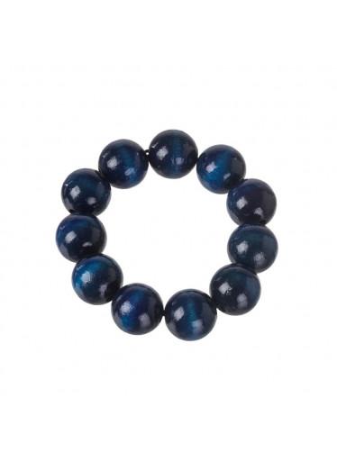 ČistéDřevo Dřevěný náramek - modrý