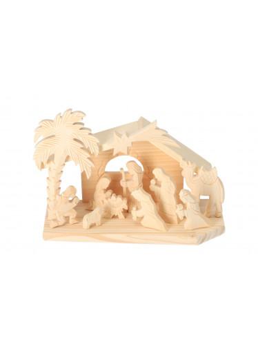 ČistéDřevo Dřevěný betlém VI