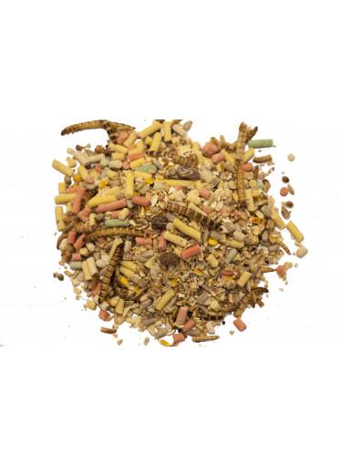 Směs semínek s lojovými peletkami a moučnými červy a konopím 2 kg