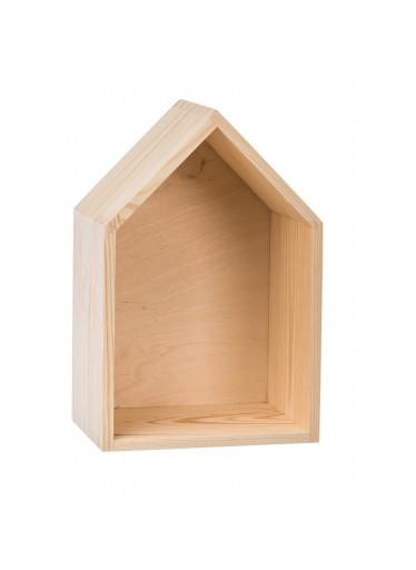 ČistéDřevo Dřevěná polička domeček - velká