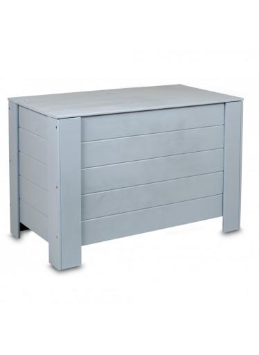 ČistéDřevo Dřevěná truhla 77 x 40 x 50 cm - šedá