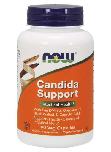 NOW Candida Support, 90 rostlinných kapslí