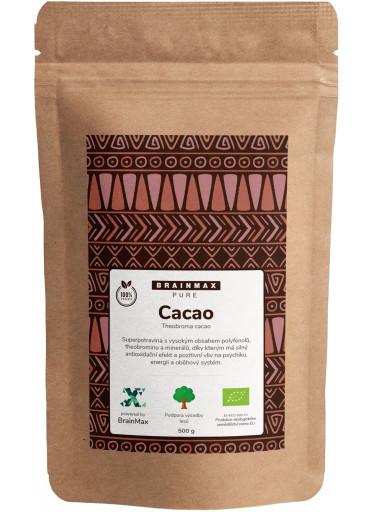BrainMax Pure Organic Cacao, Bio Kakao z Peru, 500 g