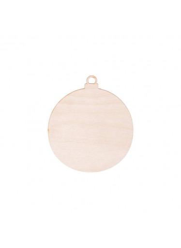 ČistéDřevo Dřevěná vánoční baňka 7 cm
