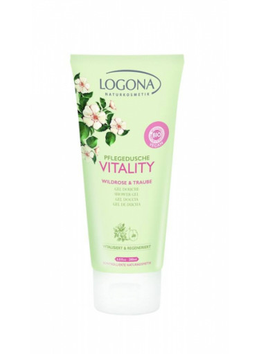 LOGONA Vitality Tělové mléko Divoká růže & Hroznový olej