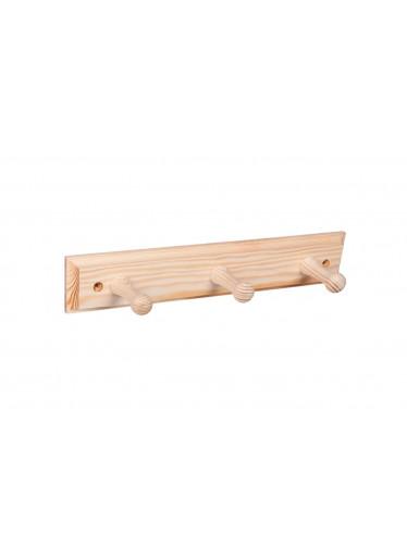 ČistéDřevo Nástěnný věšák dřevěný 30cm