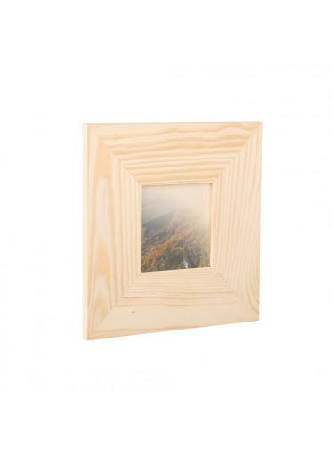 ČistéDřevo Dřevěný fotorámeček na zeď 23 x 23 cm