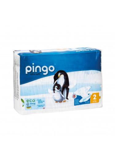 Pingo Jednorázové ekologické pleny pro děti č. 2: 3-6 kg 42 ks