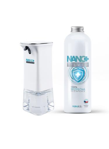 Bezdotykový dávkovač NANO+ včetně dezinfekce 1000ml