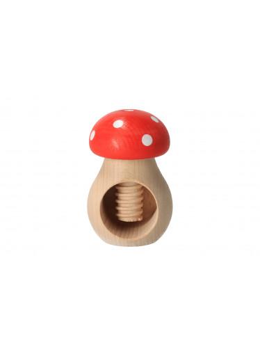 ČistéDřevo Louskáček na ořechy - muchomůrka