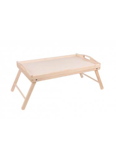 ČistéDřevo Dřevěný servírovací stolek do postele 50x30 cm - nelakovaný