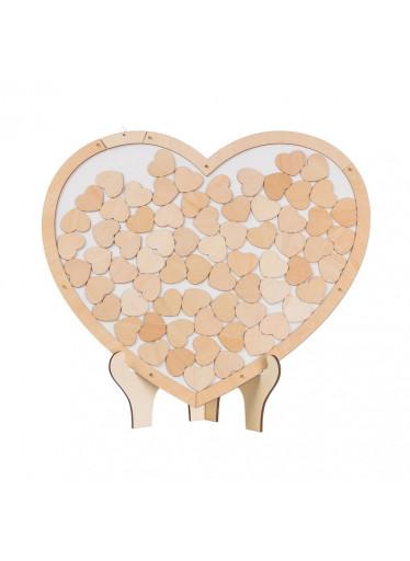 ČistéDřevo Dřevěná kniha hostů - srdce