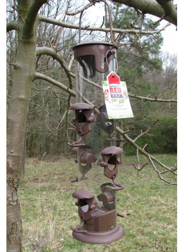 Red Barn Ptačí krmítko na semínka maxi - hnědé
