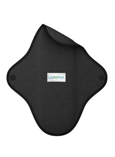LadyPad Látková vložka (S) - černá - z bio bambusu a bio bavlny