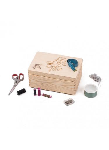 ČistéDřevo Dřevěný box na šicí potřeby