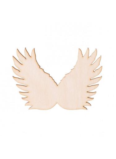 ČistéDřevo Dřevěná andělská křídla III 8.5 x 5.5 cm