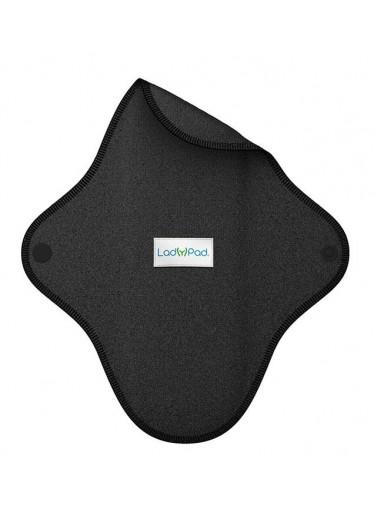LadyPad Látková vložka (L) - černá - z bio bambusu a bio bavlny