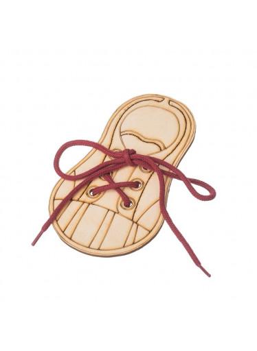 ČistéDřevo Dřevěná bota - zavaž si tkaničku 1ks