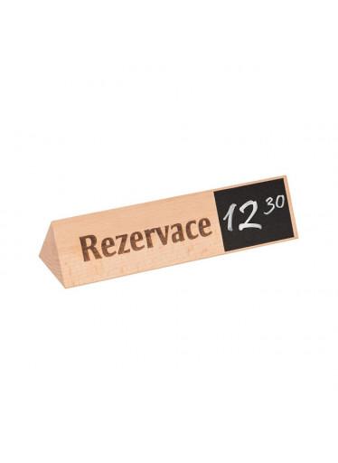 ČistéDřevo Dřevěný stojan rezervace 5 x 5 x 19 cm