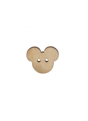 ČistéDřevo Dřevěný knoflík Mickey Mouse 1,5 x 2 cm