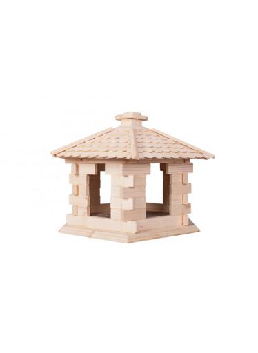 ČistéDřevo Dřevěný domeček pro ptáky XL