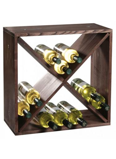 Kesper Borovicový stojan na víno I - 50 x 50 x 25 cm