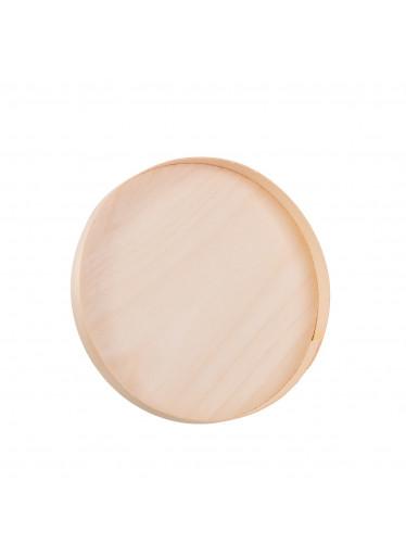 ČistéDřevo Dřevěný kulatý tácek z dýhy