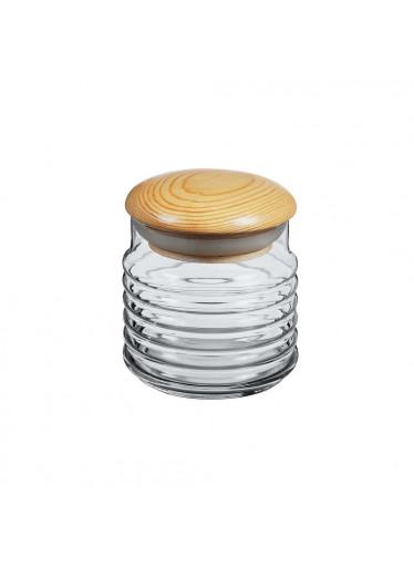 ČistéDřevo Skleněná dóza s dřevěným víčkem - 0,6 l
