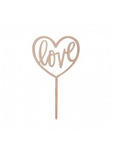 ČistéDřevo Srdce zapichovací - Love