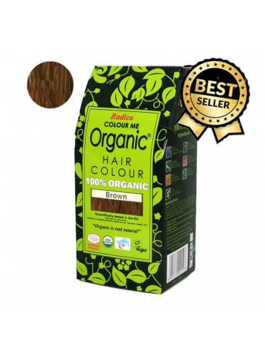 Radico Přírodní barva na vlasy BIO (100 g) - hnědá - pro zdraví, lesk a sílu