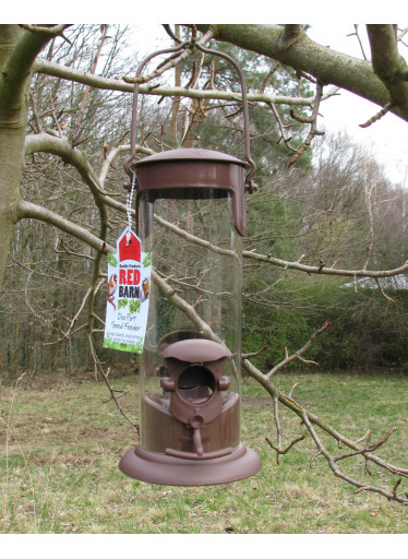 Red Barn Ptačí krmítko na semínka - hnědé
