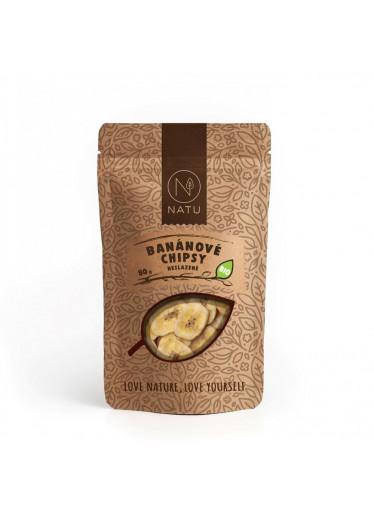 NATU Banánové chipsy neslazené BIO 80 g