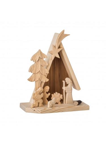 ČistéDřevo Dřevěný betlém I